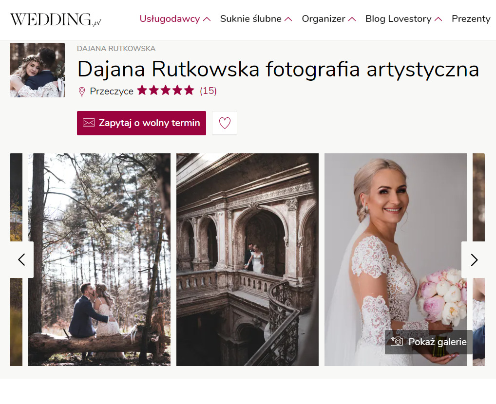 Wedding.pl dajana rutkowska fotografia