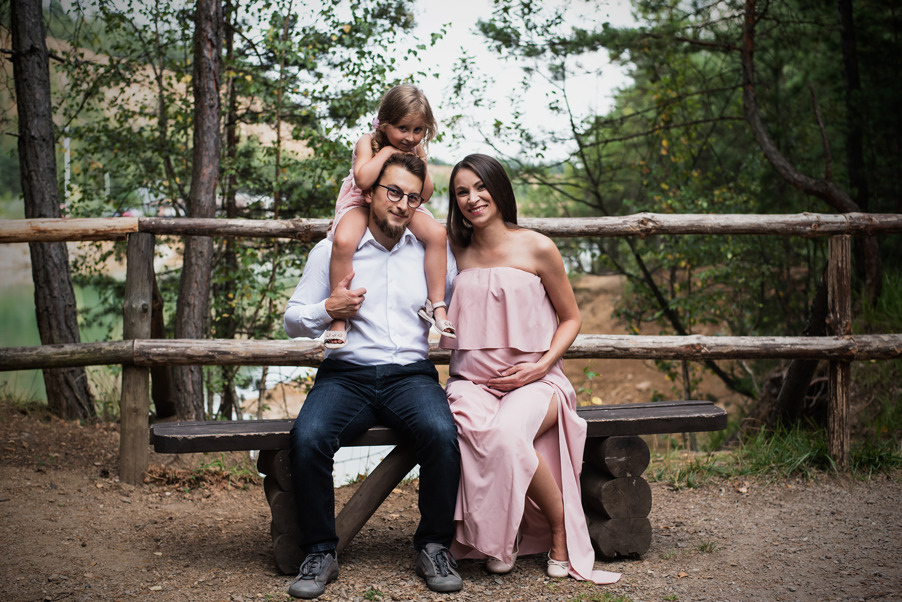 rodzinna sesja ciążowa park gródek
